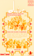 Native Language Summit Poster: Designed by Donovan Pete (Dine')