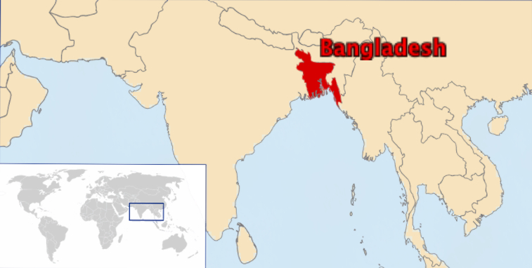 World map with bangladesh labeled cultural survival
