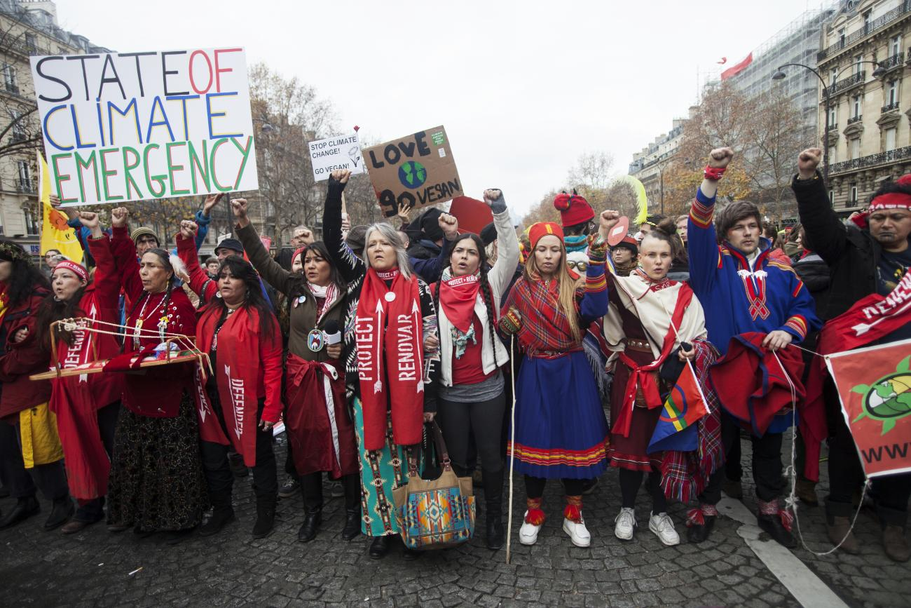 Image result for indigenous march paris cop